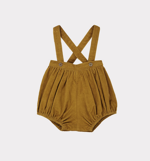 Pistis Baby Romper - Mustard - Mabel Child