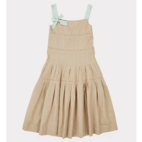 Angel Dress - Green Polka Dot - Mabel Child