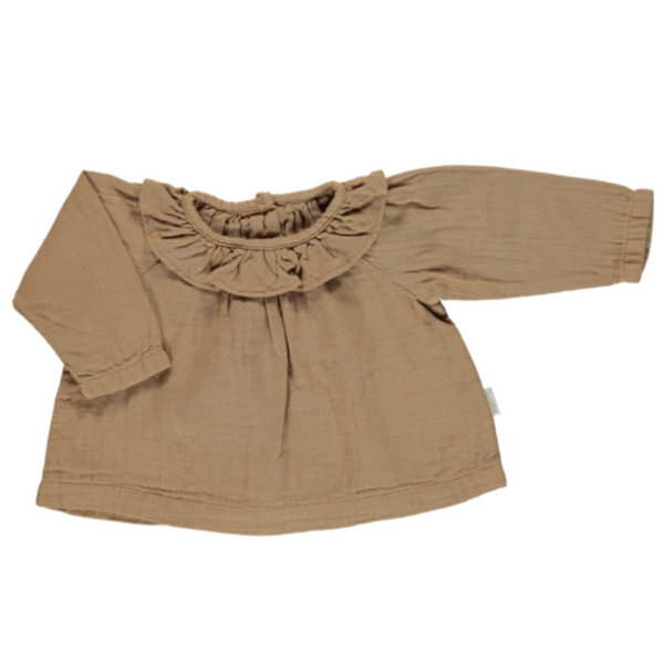Charme Blouse - Brown Sugar - Mabel Child