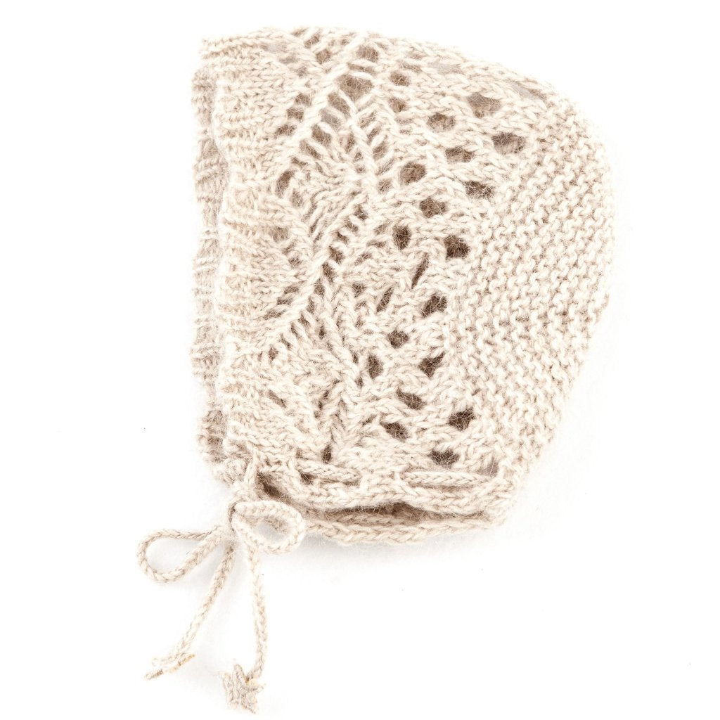 Lockstitch Baby Bonnets - Almond - Mabel Child