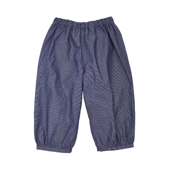 Bubble Pants - Pinstrisped Denim - Mabel Child