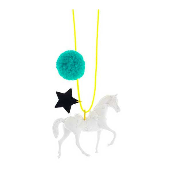 Wild and Free Necklace with Pom Pom - Mabel Child