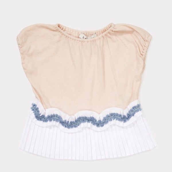 Amisk Baby T-shirt Blush Pink - Mabel Child