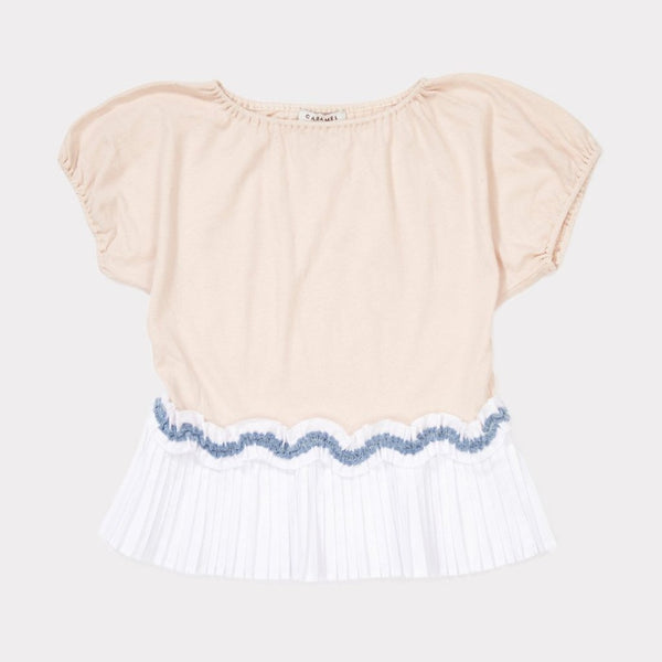 Amisk Girl T-shirt , Blush Pink - Mabel Child