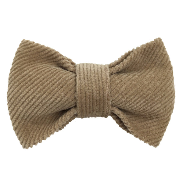 Bow Tie: 'French King' Beige Cotton Corduroy 1-8Y - Mabel Child