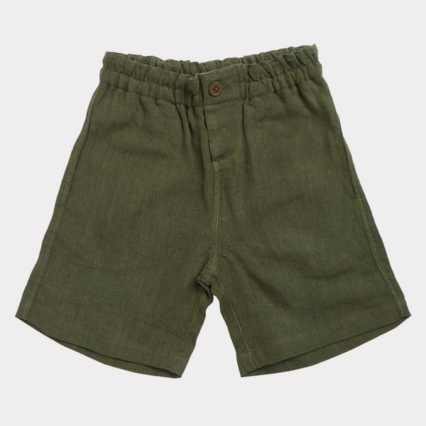 Barbican Bermudas, Opaline Green - Mabel Child