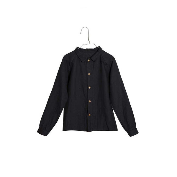 "Little Creative Factory Black ""Nehru"" Shirt - Mabel Child"