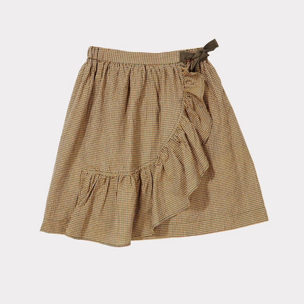 Comana Skirt - Forest Microcheck - Mabel Child