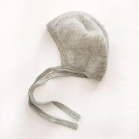 Organic New Born Baby Bonnet - Grey - Mabel Child