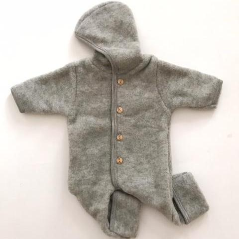 Organic Fleece Suit - Grey - Mabel Child
