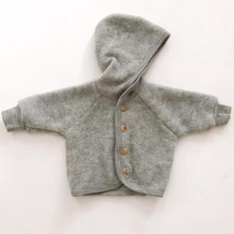 Organic Fleece Jacket - Grey - Mabel Child