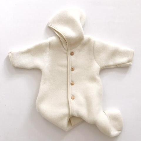 Organic New Born Baby Fleece Suit - Cream - Mabel Child