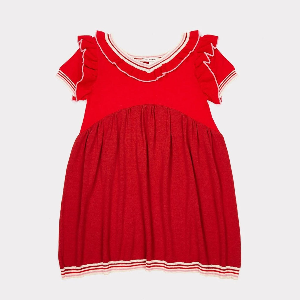 Foxglove Knitted Dress -Berry - Mabel Child