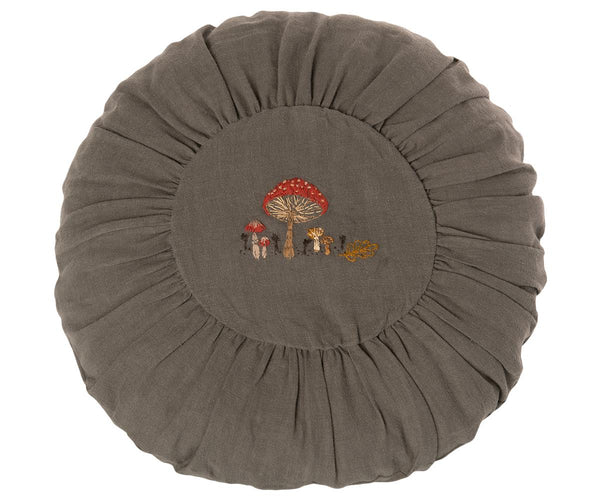 Cushion, Round Large - Green Mushroom - Mabel Child