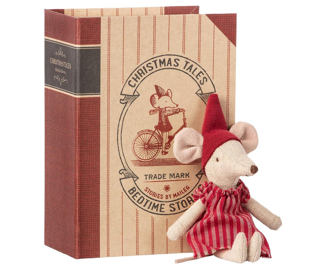 Christmas Mouse In Book - Big Sister - Mabel Child