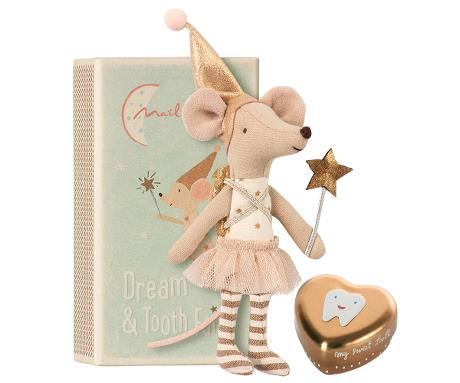 Tooth Fairy , Big Sister Mouse With Metal Box - Mabel Child