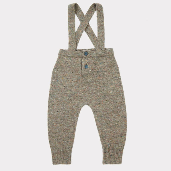 Gopher Baby Knit Romper - Taupe - Mabel Child