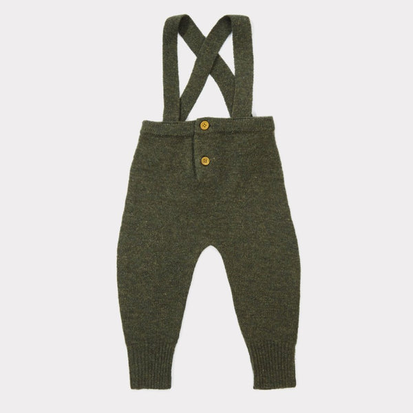 Gopher Baby Knit Romper - Thyme - Mabel Child