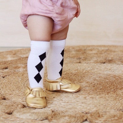 'Black Diamond' Knee High Socks - Mabel Child