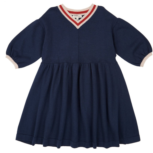 Islington Dress , Navy - Mabel Child