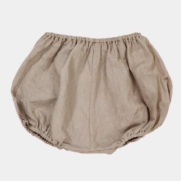 Lily Bloomer Linen/Cotton In Stone Grey - Mabel Child