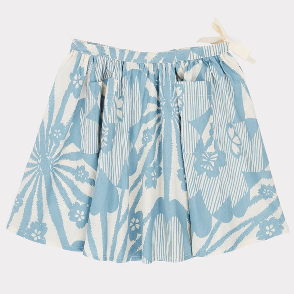 Norton Skirt - Blue Flower Print - Mabel Child
