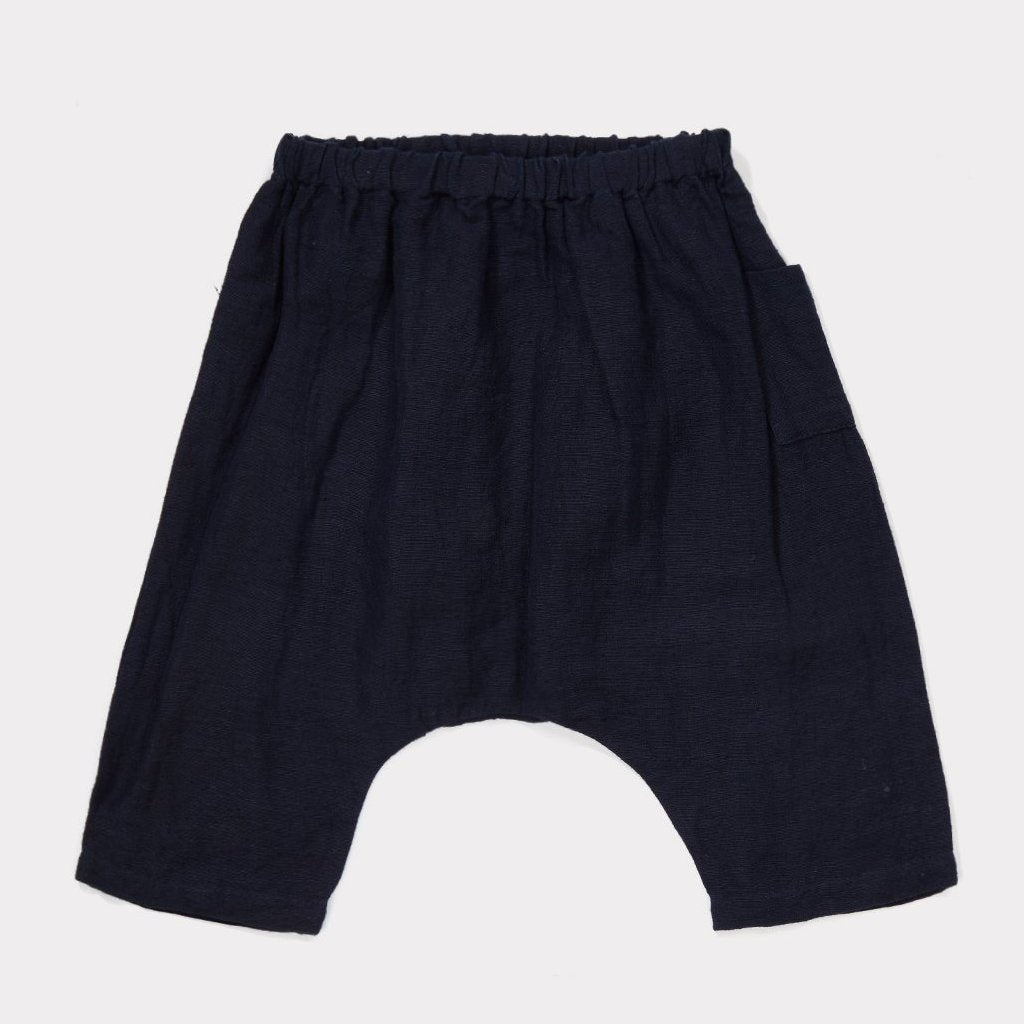 Oku Baby Trouser - Navy - Mabel Child