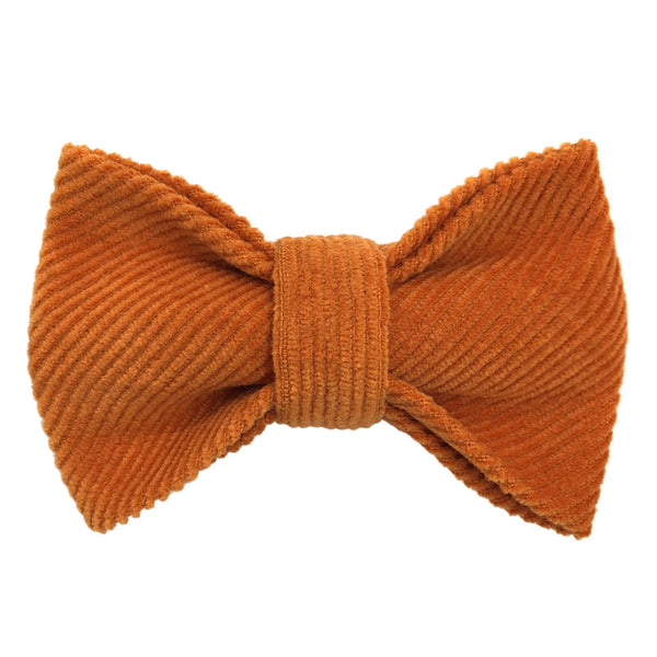 Child Orange Bow Tie, Cotton Corduroy  1-8Y - Mabel Child