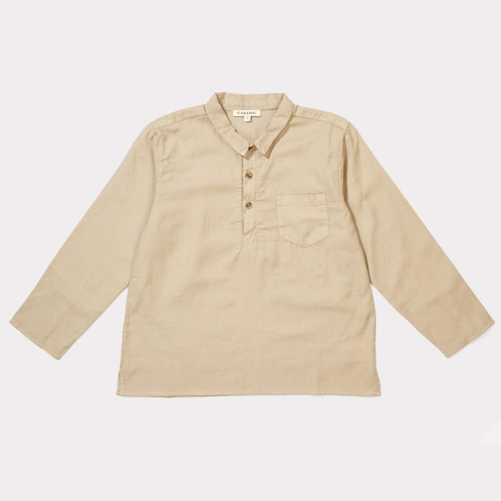 Owl Shirt - Beige - Mabel Child