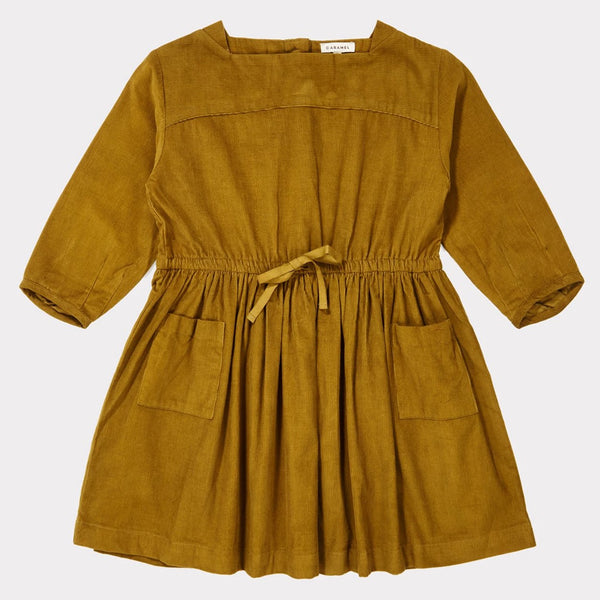 Pelias Dress - Mustard - Mabel Child