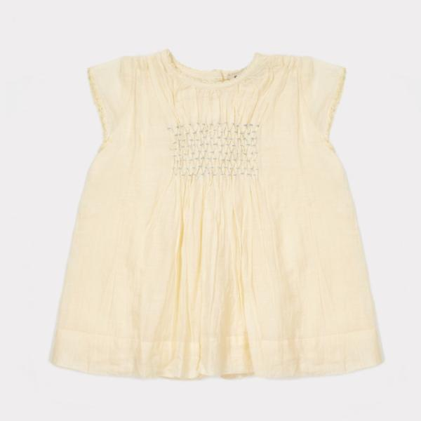 Perry Baby Dress, Pale Yellow - Mabel Child