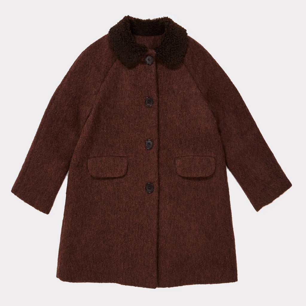 Pherousa Coat - Plum - Mabel Child