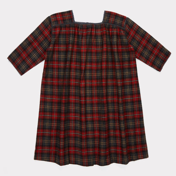 Pony Dress - Tartan Red - Mabel Child