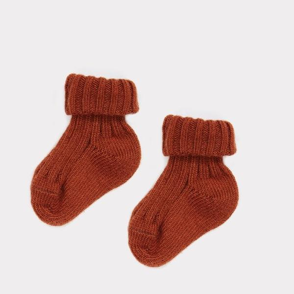 Rib Baby Ankle Sock, Auburn - Mabel Child