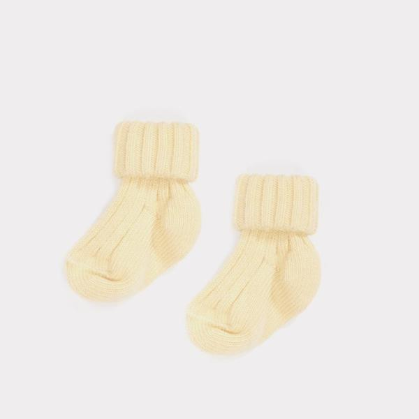 Rib Baby Ankle Sock , Camomile