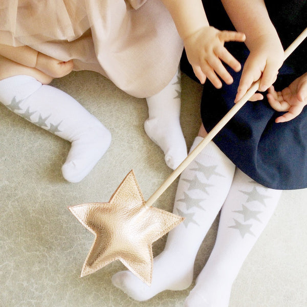 'Silver Star' Knee High Socks - Mabel Child