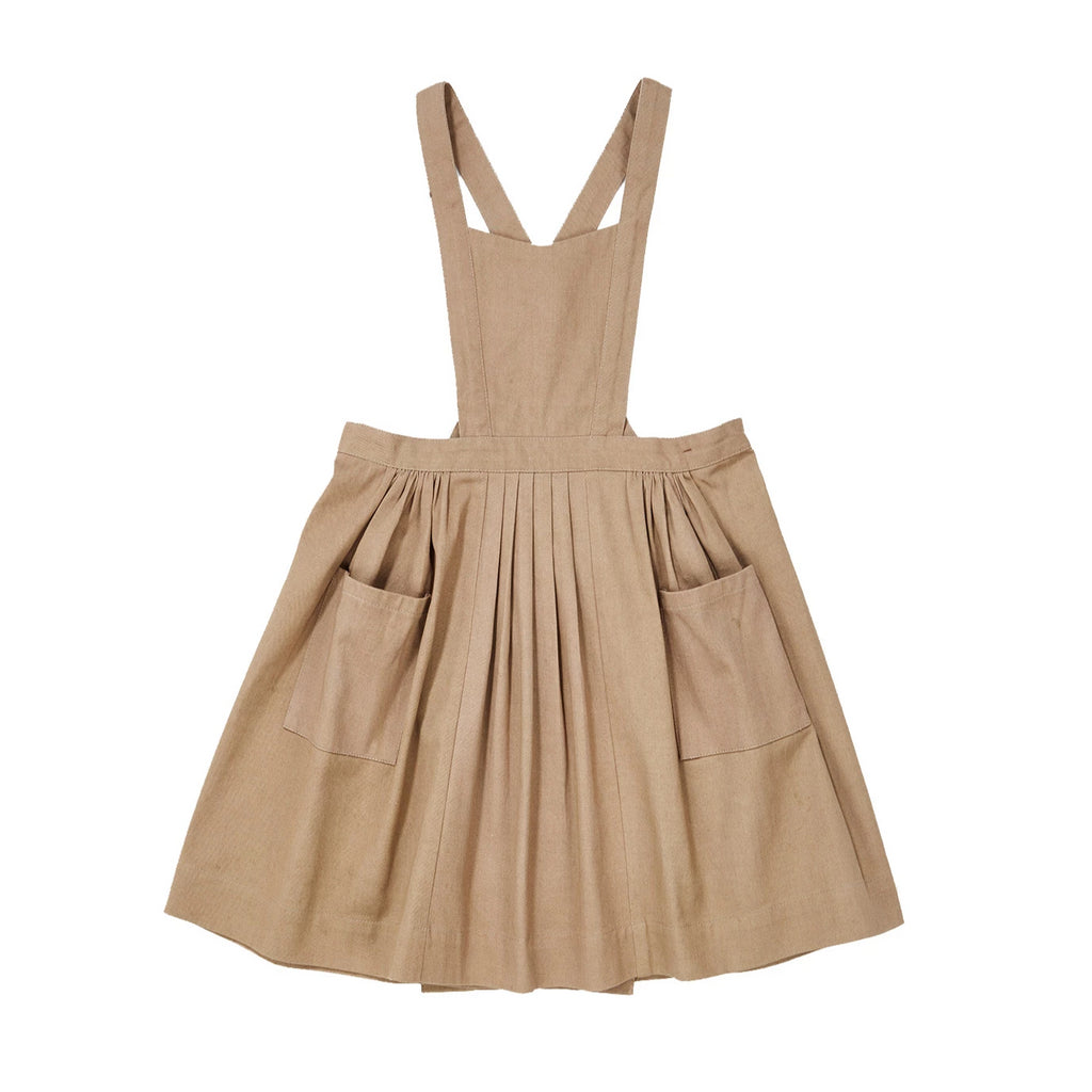 Thalassa Pinafore - Mushroom - Mabel Child
