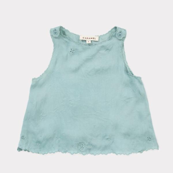 Tuz Baby Top, Dusty Turquoise - Mabel Child
