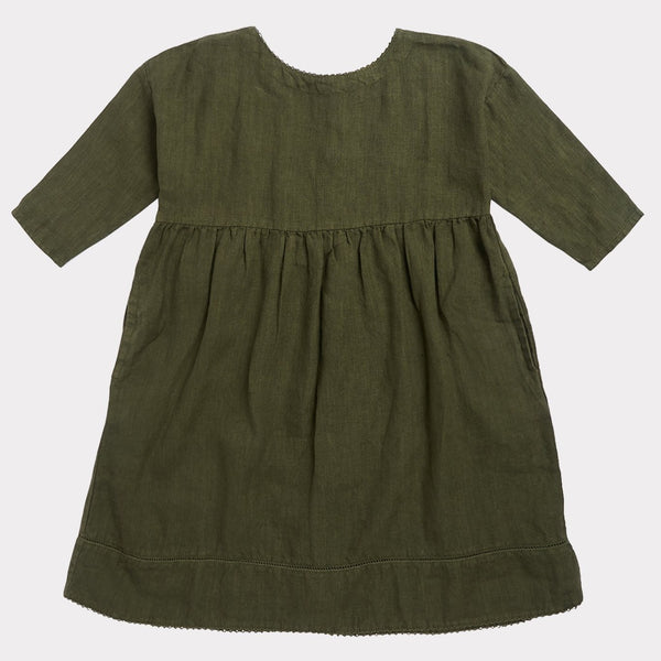 Wimbledon Dress -Army Green - Mabel Child