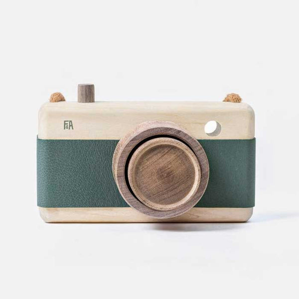 Mineral Teal Wooden Zoom Camera - Mabel Child