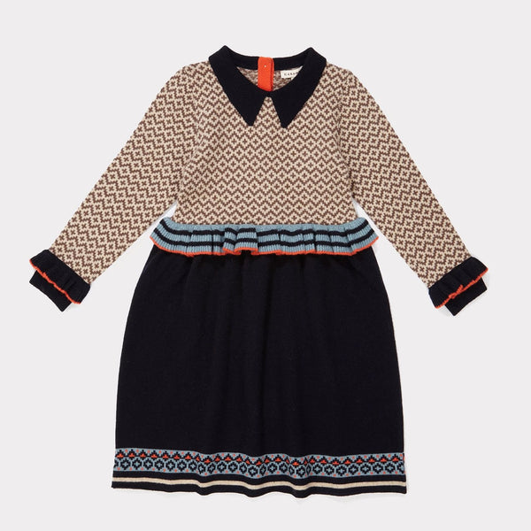 Zeus Dress - Navy - Mabel Child