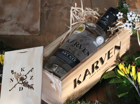 KARVEN DRY GIN 700ml + GIFT BOX
