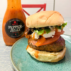 Pepper Jelly Bacon Burger