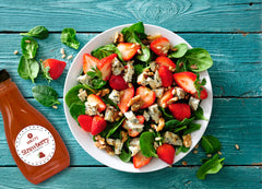 Strawberry Walnut Blue Cheese Salad