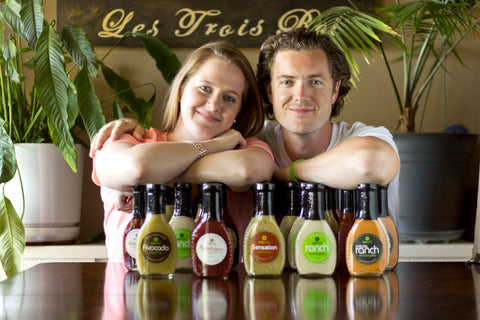 Hanley's all natural salad dressings, Richard and Kate Hanley