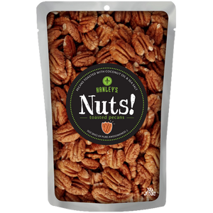 Nuts! Coconut oil toasted pecans