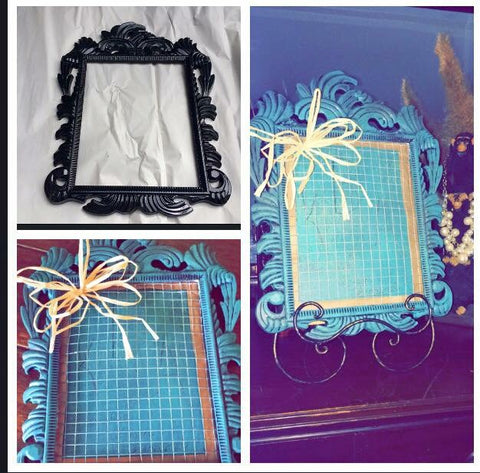 Vintage picture frame jewelry holder