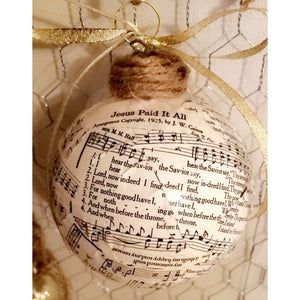 PREORDER Vintage Church Hymnal Ornaments