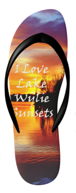 Lake Wylie Sunset Flip Flops