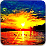 Artistic Lake Wylie Sunsets Coaster Set (H)
